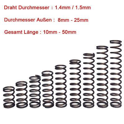 0,8mm Druckfeder Länge 10-50M 304 Edelstahl Druck Kleine Federn Alle Größe 10PCS