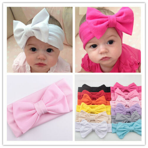 Baby Infant Kids Girl Toddler Big Bow Knot Headband Hair Band Hairband Head Wrap