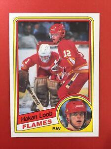 Nice-Hakan-Loob-1984-85-OPC-ROOKIE-229-Calgary-Flames-Sweden