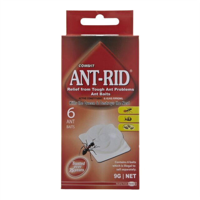 Combat ANT-RID ANT BAITS for Tough Ant Problems, Kills Queens & Nest 6Pc, 1.5g