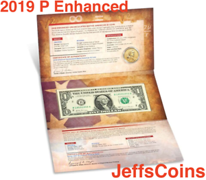 2019-P-Enhanced-Sacagawea-1-Coin-amp-Currency-Set-Native-American-Space19NR-UNC