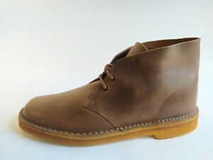 Clarks-Originals-Mens-11-M-Desert-Horween-Camel-Brown-Leather-Chukka-Ankle-Boots