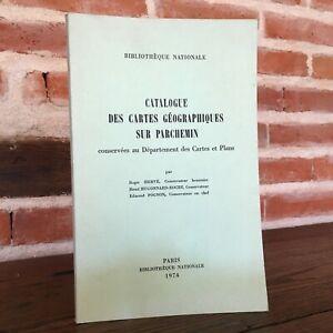 Catalogue Delle Schede Geographical Sul Pergamena Biblioteca Nazionale 1974