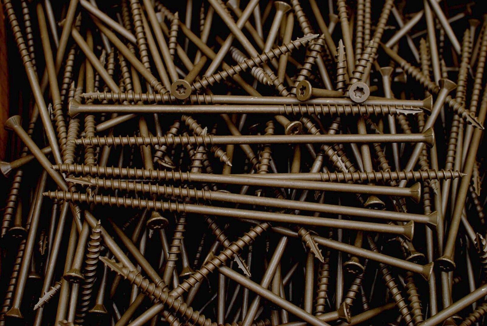 8000 Torx T20 Star Flat Head 8 x 1-1//4 Deck Screw ACQ Lumber Wood Type 17 BULK