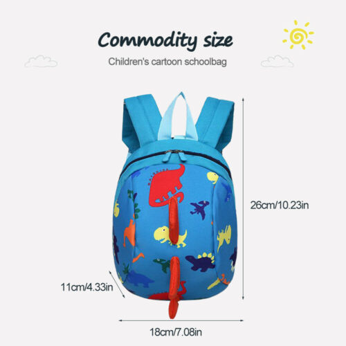 Baby Toddler Backpack Kids Safety with Bag Strap Harness Dinosaur Reins-Cartoon