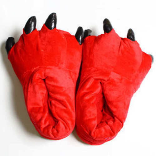 Animal Unisex Adult Cosplay Slippers Cartoon Claw Paw Shoes Winter Keep Warm Hot