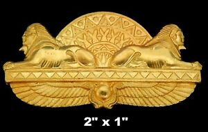 Vintage-Brass-Stamping-Sphinx-with-Wings-of-Isis-and-Lotus