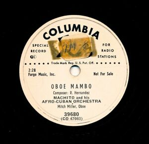 MACHITO-and-his-AFRO-CUBAN-Orchestra-on-1952-Columbia-39680-Oboe-Mambo