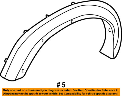 Chevrolet GM OEM S10-Front Fender Flare Wheel Well Arch Molding Left 15003947