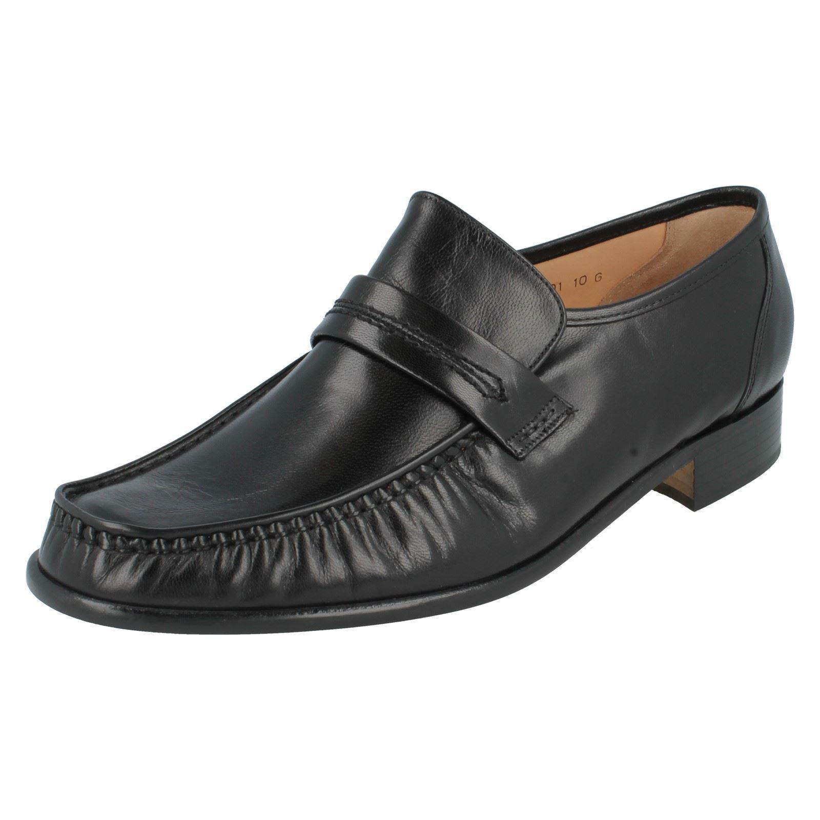 Grenson' Watford A Herren schwarzes Leder True Mokassin ohne Bügel Slipper Schuh