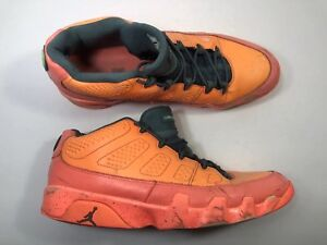 on sale 14f20 c37d9 Image is loading Nike-Air-Jordan-Retro-9-Low-Bright-Mango-