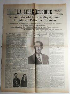 N412-La-Une-Du-Journal-La-libre-Belgique-17-juillet-1951-ceremonie-d-039-abdication