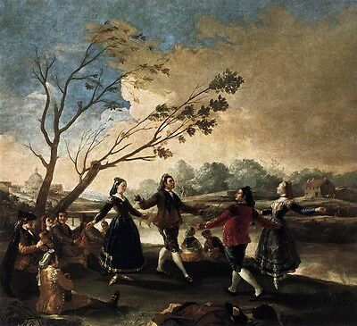 Oil painting Francisco de Goya - Dance of the Majos at the Banks of Manzanares