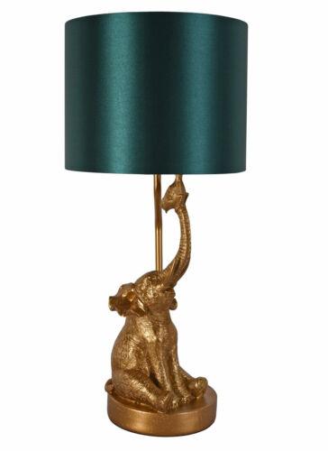 Tischleuchte Elefant Gold Tischleuchte Tierfigur Jungle Lampe Leuchte 52cm neu