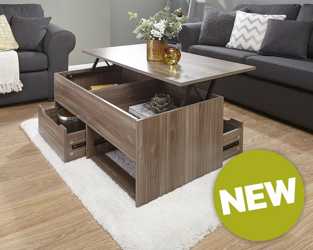 White Lift Up Coffee Table.Details About Ultimate New 2 Drawer Lift Up Storage Coffee Table Espresso Oak Walnut White