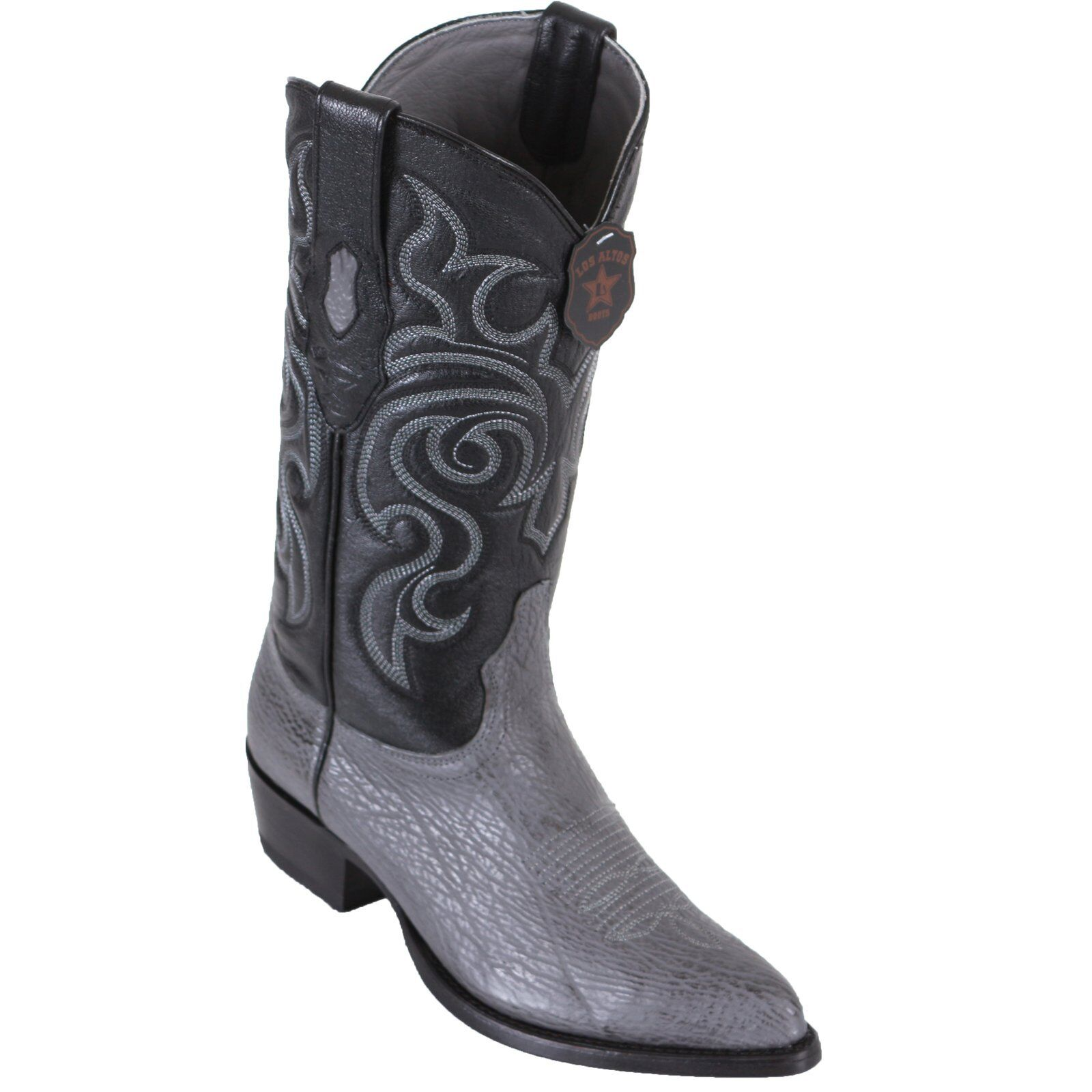 LOS ALTOS GRAY GENUINE SHARK SHARK SHARK WESTERN COWBOY BOOT J-Toe D 21ddea
