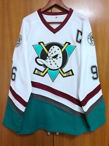 The Mighty Ducks Jersey  96 Charlie Conway Ice Hockey Jersey White S ... 5fdc7081c71