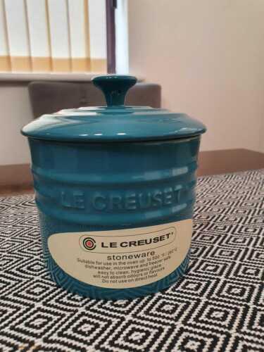 Le Creuset tarro de almacenamiento herméticos Pastel Azul Gres Cannister 0.8L PVP £ 34