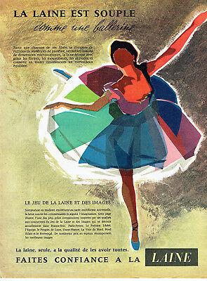 Collectibles Publicité Advertising 118 1958 La Laine Est Souple Ballerine Customers First Other Breweriana