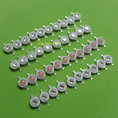1W 3W High Power Yellow Pink UV Orange LED Bulb Lamp Light 10 50 100 pcs