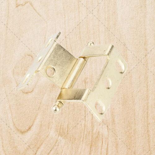 Furniture Hinges Offset Bifold Polished Brass 19 mm x 19 mm hn915