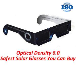 20 x Solar Eclipse Glasses (Stars) ISO Approved DARKER LENS KID & ADULT SAFE
