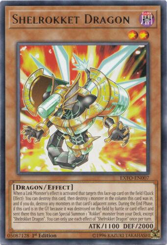 Rare EXFO-EN007 Shelrokket Dragon Near Mint 1st Edition x3