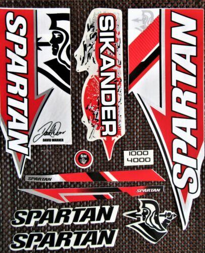 Spartan David Warner Sikander Cricket bat Sticker Set