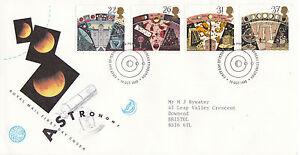 16-OTTOBRE-1990-ASTRONOMIA-ROYAL-MAIL-FIRST-DAY-COVER-Bureau-SHS-X