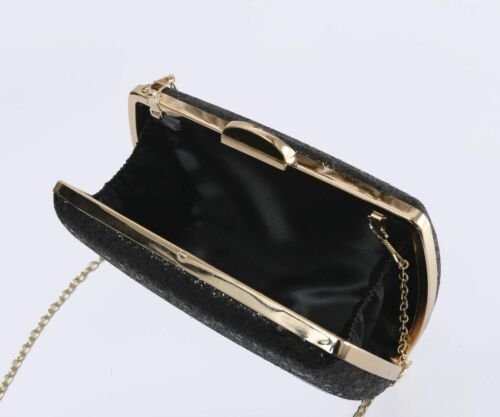 Women/'s Sparkly Shiny Glitter Purse Clutch Wedding Evening Prom Party Clasp bag
