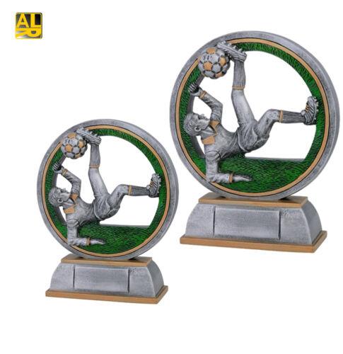2 Größen Pokal Fallrückzieher Fußballertrophäe mit Gravur Sonderaktion