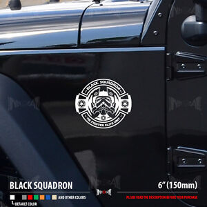 BLACK SQUADRON TIE FIGHTER Pilot Dark Side Star Wars Car Vinyl - Star wars car decals