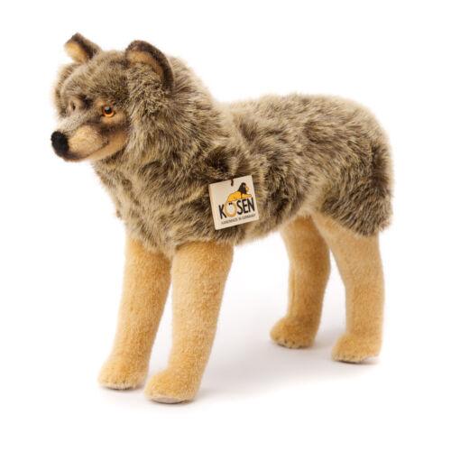 Wolf - standing - exquisite plush collectors soft toy - Kosen / Kösen - 3840