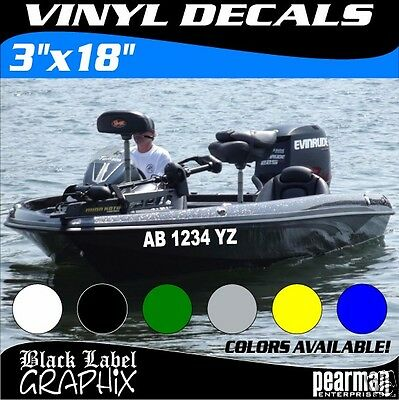 PWC LICENSE,FANCY FONTS,WAVE RUNNER  BOAT REGISTREATION NUMBERS BASS BOAT