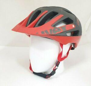 Uvex-Erwachsene-Fahrradhelm-Quatro-Rot-grey-red-Groesse-56-61-cm-TOP
