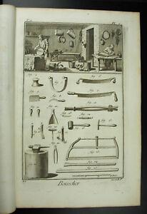 Boisselier Fabricant De Boisseaux Bois Cintré Métier Ancien Xviiie 1767 Complet