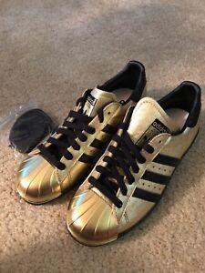 Details about Adidas mi Superstar Gold Black