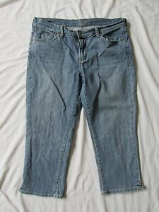a84cd90419e WOMEN'S OLD NAVY THE FLIRT BLUE JEAN CAPRIS/DENIM CROPPED PANTS SIZE ...