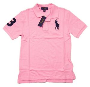 Polo Ralph Lauren kids boys size 6 Polo Shirt Big Pony cotton blue pink orange