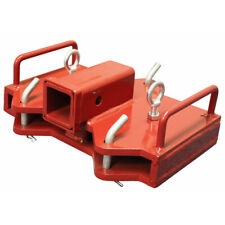 Titan Attachments Forklift Hitch And Receiver For Dual Forks 2 Receiver