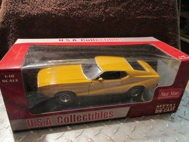 1 18 1971 Ford MUSTANG  sunstar   SPORTS ROOF amarillo  1 18 loose