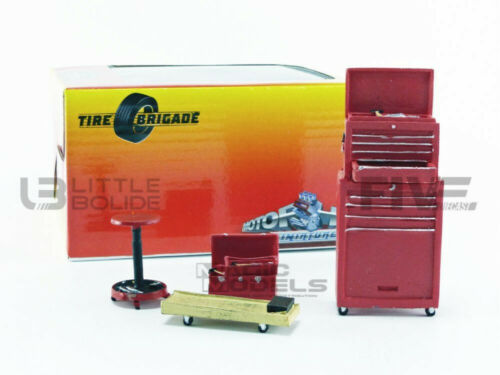 189 FIGURINES TIRE BRIGADE MOTORHEAD MINIATURES 1//18 TOOL SETS RED