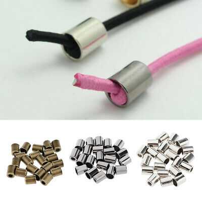40Pcs Conical Bell Shape Stopper Cord Lock Ends Without Lid Toggle Clip Rope