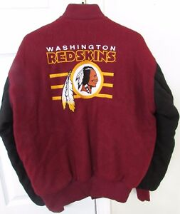 buy popular 4ff22 ebc16 Details about Vintage NFL Washington Redskins Wool Letterman Jacket Adult  Small by DeLONG