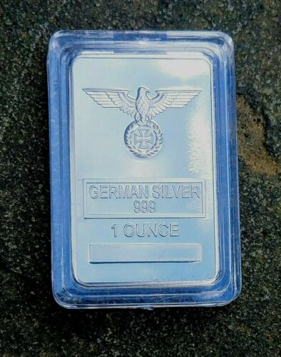 1 oz Uncirculated German Silver Iron Cross Bar With Case