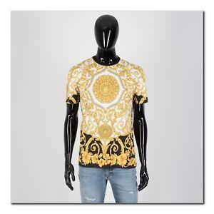 VERSACE-775-Authentic-New-SS19-Barocco-Print-Tshirt