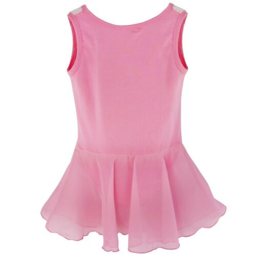 Girls Kids Gymnastics Ballet Dress Leotard Tutu Skirt Dance Ballerina Costume