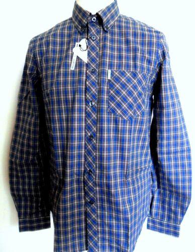 Taglie lunga a manica quadri Xxl Sherman scozzese blu S Ben uomo Camicia Ma11355 Colore royal qfwPT4q
