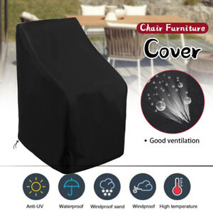 Outdoor Waterproof Armchair Couch Cover Garden Furniture Cover Dustproof Black