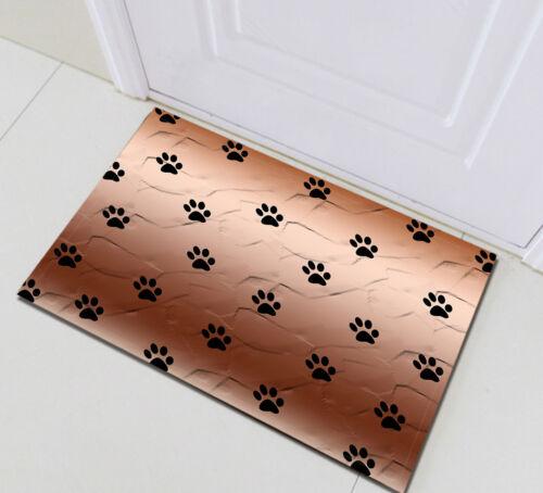 Bathroom Set Cute Dog Paw Prints Shower Curtain Liner Waterproof Fabric Hooks